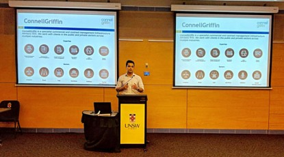 Sep Zarrin presents at UNSW Civil Engineering Industrial Training Information Night
